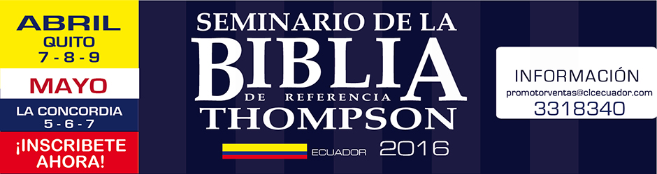 seminario biblia thompson 2016