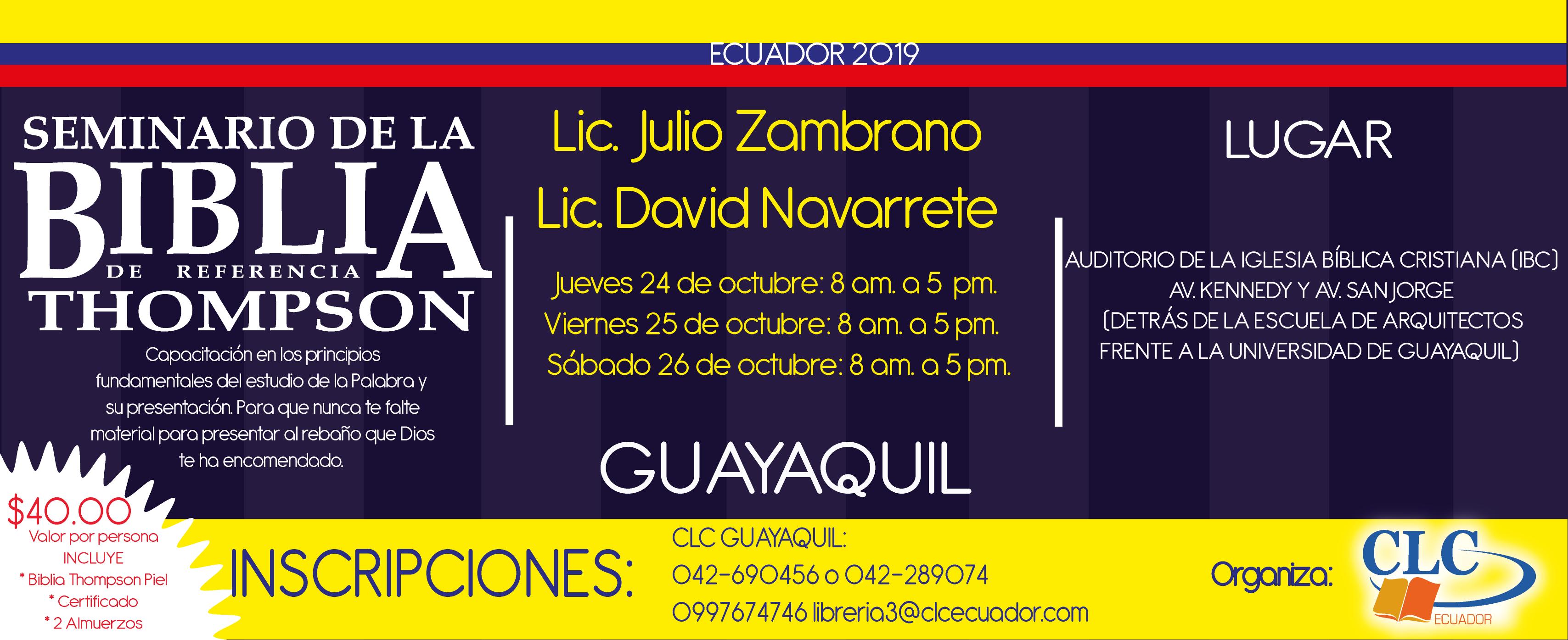 Seminario Thompson Guayaquil