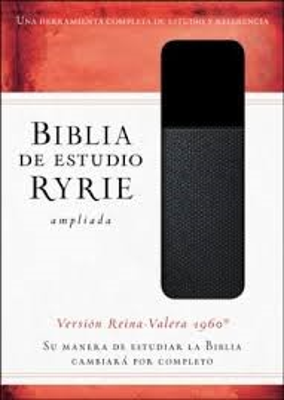 Biblia de Estudio Ryrie RVR60 (Senti piel dos tonos negro)