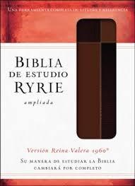 Biblia de Estudio Ryrie Ampliada Piel (Senti piel dos tonos marrón)