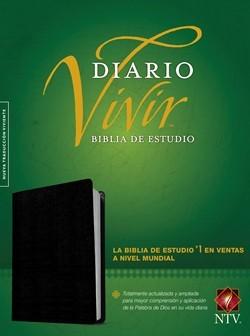 B NTV DIARIO VIVIR ESTUDIO NEGRO INDICE (PIEL FABRICADA) [Biblia]