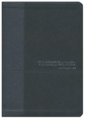 B RVR60 DIARIO VIVIR ESTUDIO PIEL NEGRO INDICE (Piel especial) [Biblia]