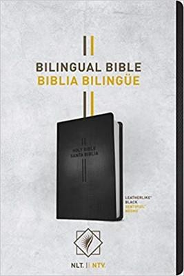 Biblia Bilingüe Imitación Piel Negro