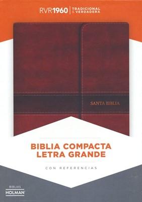 Biblia RVR1960 compacta letra grande (Tapa simil piel marrón con imán) [Libro]