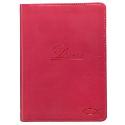 Diario de Oración Pez (Tapa Suave Símil Cuero Rosado )