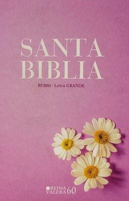 Biblia Valera 1960 Letra Grande Lila Margaritas (Flexible)