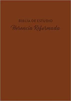 Biblia de Estudio Herencia Reformada- Piel Café (Simil Piel ) [Biblia]