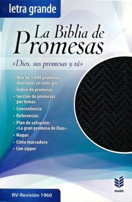 Biblia de Promesas RVR60 Letra Grande (Imitación Piel/Cierre) [Biblia]