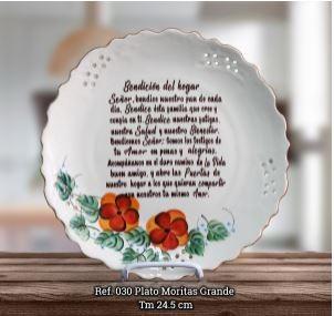 PLATO MORITAS GRANDE REF 030 (cerámica) [Misceláneos]