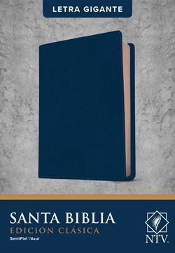 Biblia NTV Letra Gigante Edicion Clasica Sentipiel Azul (Flexible Imitacion Piel Azul) [Biblia]