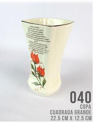 COPA CUADRADA GRANDE REF.040 (Ceramica) [Misceláneos]