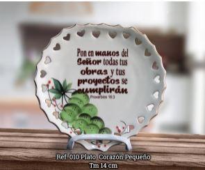 PLATO CORAZON PEQUENO REF.010 (ceramica) [Misceláneos]