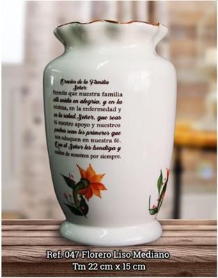 FLORERO LISO MEDIANO REF.047 (cerámica) [Misceláneos]