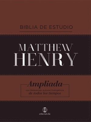 RVR Matthew Henry (Imitación Piel) [Biblia de Estudio]