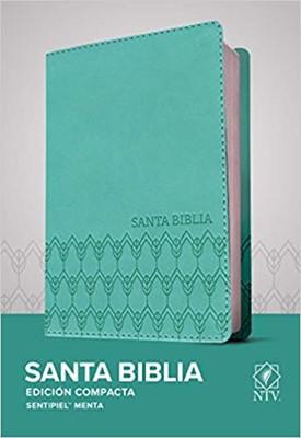 Biblia NTV compacta - Menta (Tapa sentipiel menta)