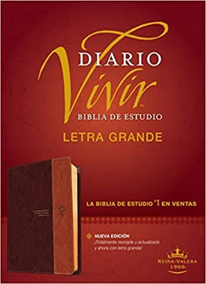 Biblia de estudio del diario vivir RVR60, letra grande (Tapa sentipiel café/café claro) [Biblia de Estudio]