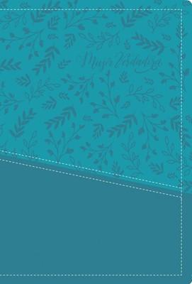 Biblia devocional Mujer Verdadera Aqua Piel (Símil piel) [Biblia]