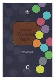 Biblia RVR77 Revisada Colores de Fe (Imitación Piel )