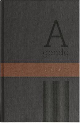 Agenda 2021 Hombre Negro/Marrón (Piel Especial) [Agenda]