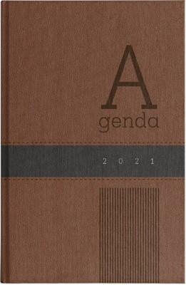 Agenda 2021 Hombre Marrón/Negro (Piel Especial) [Agenda]