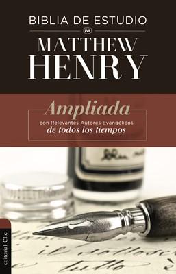 Biblia de Estudio Matthew Henry con Índice (Tapa Dura) [Biblia de Estudio]