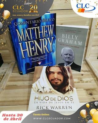 Comentario Matthew Henry + Mis Últimas Palabras + Hijo de Dios(Estudio bíblico) (Tapa Dura) [Libro]