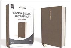 NBLA Santa Biblia Ultrafina, Letra Gigante (tapa tipo piel) [Biblia]
