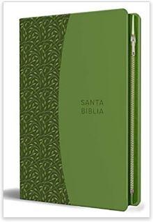 Biblia Reina Valera 1960 letra grande. Símil piel verde con cremallera (forro con cierre) [Bíblia]