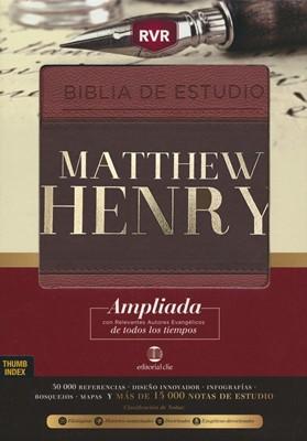 RVR Biblia de Estudio Matthew Henry (imitación Piel) [Biblia de Estudio]