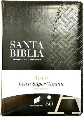 RVR60 Biblia Letra Super Gigante Con Índice y Zipper (forro con cierre) [Biblia]