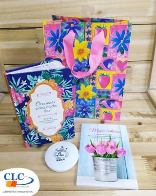 Oraciones para Cada Día + Notepad + Coquetera + Funda de regalo Pequeña