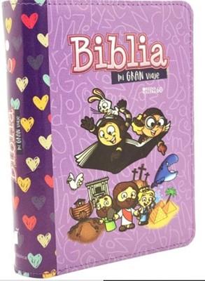 BIBLIA MI GRAN VIAJE REINA VALERA 1960 IMITACIÓN PIEL LILA CON CIERRE, LETRA GRANDE (Cubierto con cierre) [Biblia]