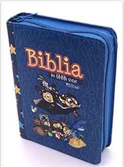 Biblia para niños mi gran Viaje Letra grande (Con Cierre ) [Biblias para Niñ@s]