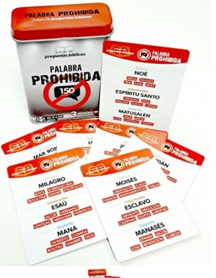 JUEGO DE PREGUNTAS BIBLICAS PALABRA PROHIBIDA (Caja Metalica) [Miscelanea]