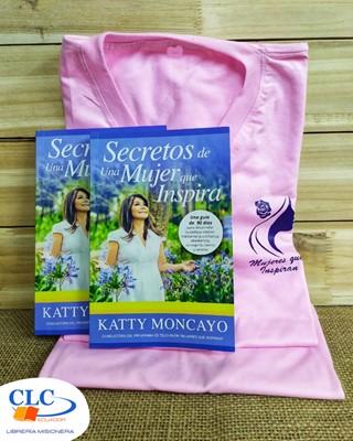 2 Libros Secretos de una Mujer  que Inspira + 1 Camiseta para Mujer (Rustico) [Libro]