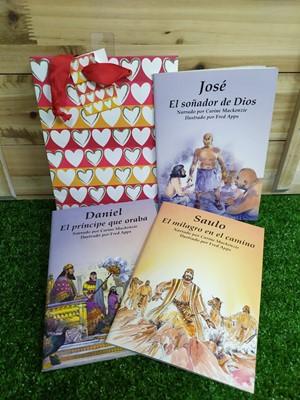 Personajes Bíblicos Sendas Antiguas (3 libritos) + Funda de regalo Pequeña