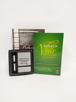 Biblia Diario Vivir NTV +  Set Libreta con bolígrafo + Funda de regalo