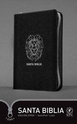 Biblia NTV Edición Zíper (Semipiel - Negro) [Biblia]
