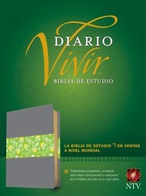 Diario Vivir NTV (Semipiel - Gris/Verde) [Biblia de Estudio]