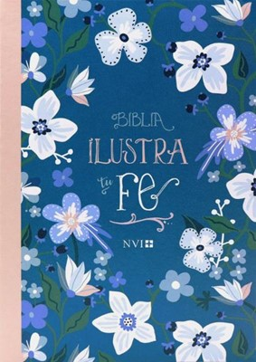 NVI Ilustra tu Fe (Semipiel - Azul Floreado) [Biblia]