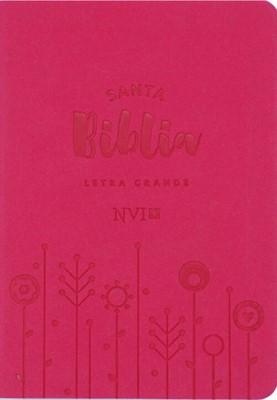NVI Compacta Letra Grande (Cuero Ecológico - Fucsia) [Biblia]