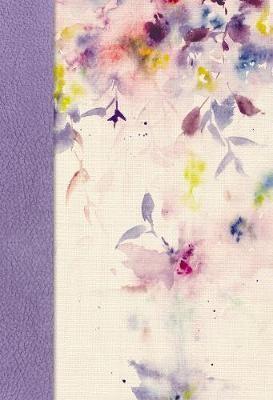 Para la Mujer NVI (Símil Piel - Lila/Flores) [Biblia de Estudio]