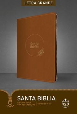RVR60 Letra Grande con Cierre y Referencias (Imitación Piel) [Biblia]