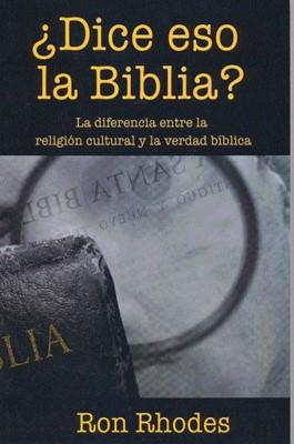 DICE ESO LA BIBLIA [Libro]