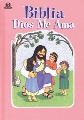 Biblia Dios Me Ama (Rosado) (Tapa Dura) [Biblia]