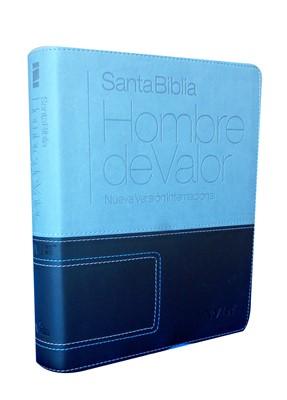 B HOMBRES DE VALOR NVI PIEL GRIS (Imitación Piel) [Biblia]