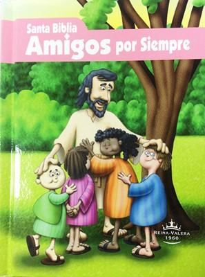 Biblia RVR23 Amigos Por Siempre Rosa (Tapa Dura) [Biblia]
