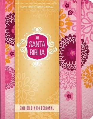 Biblia con margen ancho NVI Diario Personal rosa (Tapa Dura) [Biblia]