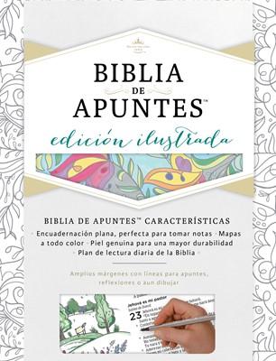 Biblia de Apuntes Blanco Tela Para Colorear RVR1960 (simil piel) [Biblia]