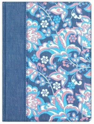 RVR 1960 Biblia de apuntes, edición ilustrada azul (simil piel) [Biblia]